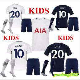 17 18 KIDS KIT home soccer SHIRT Spurs Jersey 2017 2018 Dier Kane Son Alderweireld Eriksen Dele Lamela HOME AWAY DOYS Football Shirt