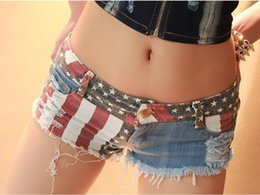 Wholesale- New Sexy Womens Denim Jean shorts Ripped Tassel Hole Short jeans Hot Trousers Beach Summer Bandage Low Waist Girls