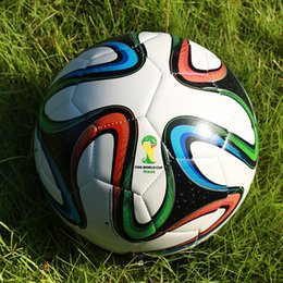 2014 Brazil World Cup BRAZUCA soccer ball size 5 wear-resisting Non slip particles game training match football ball free shipping