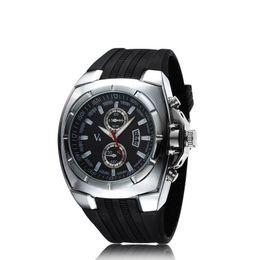 La montre-bracelet pour hommes en Ligne-16pcs / lot DHL expédition Big Dial Mode hommes V6 quartz mode hommes de luxe Silver-Plated montres (NBW0FA5522-SI3)