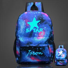 Wholesale NEW Glow bags Luminous Printing Backpack Teenage Girls Cute Bookbags Vintage Laptop Backpacks Female Bat backpack