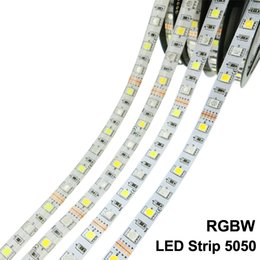 Edison2011 Best Price 5M SMD 5050 RGB+White Warm White LED Strip 300 LEDS Waterproof Tube 12V DC 60led m Free DHL