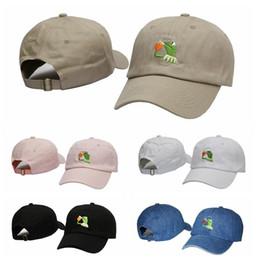 Hot Sale Fashion Kermit The Frog Hat Sipping Tea Adjustable Strapback Cap Baseball Cap Golf Cap