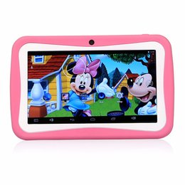 Wholesale Best Quality DHL Free Inch Android5 Kids Children Education Tablets PC GB WiF Quad Core MID HD Dual Camera Game App AR3