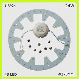 1 PACK DIY install round 24W LED ceiling light 2300LM PCB led plate DIA 272MM circular techo LED 120v 220V 230V 240V repalce 2D tube