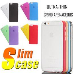 Cas transparents pour iphone 4s à vendre-0,3 mm ultra mince mince mat givré clair cristal transparent souple peau de cas de couverture de pp pour l'iPhone 7 plus 6 6 5 5 5 4 4s MOQ: 50pcs
