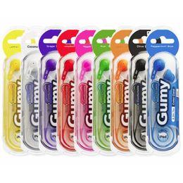 Gumy Gummy Earphone HA F150 3.5mm MP3 Earphones Headphones No MIC Colorful for iphone ipad ipod Samsung HTC