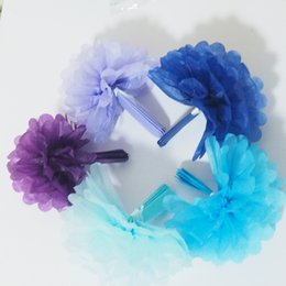 6 inch 5 color 500 pieces per lot wholsale price high quality free shipping paper pompoms party and wedding decorations