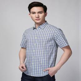 2017 Hot Sale Men Dress Shirt Slim Fit Social Business White Shirt Casual Short Sleeve Brand Print 100% Cotton Fashion Blouse