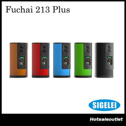 Wholesale Authentic Sigelei Fuchai Plus Mod W Temp Control Vape Mod Powered by Dual Battery Best Match with Smok Big TFV8 BABY