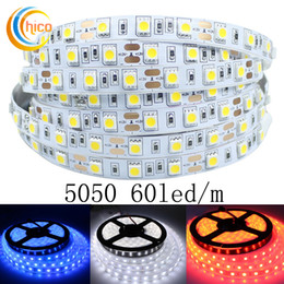 Project lights led strips waterproof SMD 5050 60 Leds m 12v led strip lights waterproof IP67 red green blue yellow white RGB