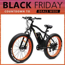 Wholesale IN STOCK Addmotor MOTAN Bicycle M Platinum Fat Tire Fork Suspension E Bike Orange Matte Black W V quot Electric Bicycle