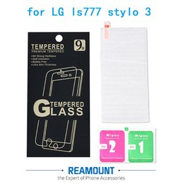 9H Hardness Ultra Thin Tempered Glass Screen Protector for lg stylo 3 Phone Protective Film +Retail box