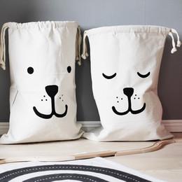 INS JOUETS Bear / Panda / Batman / Letter Pattern Canvas Jouets Sacs de rangement Pendentif Bébé Enfants Décoration de chambre Blanchisserie Panier de rangement à partir de stockage pour les jouets fabricateur