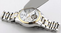 2017 elegant Watches Luxury Casual Men Stainless Steel Wristwatches Watch Luxury Brand Waterproof Wrist Watches with refined harden steel.