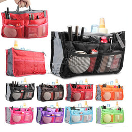 Wholesale Universal Tidy Bag Cosmetic bag Pouch Tote Sundry Bag Organizer Travel Makeup Insert Handbag with OPP Package