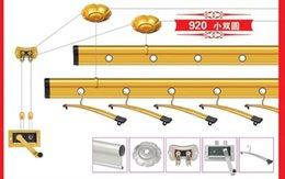 Wholesale Hand Lift Clothes Hanger Room Domestic And Foreign Lift Clothes Hanger Double Round Bar Aluminum Coat Hanger