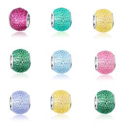 Cristales checo pulseras en Línea-El encanto cristalino tallado 100pcs / lot rebordeó los encantos grandes del grano del espaciador de Chamilia del espaciador grande de Chamilia del agujero de Rondelle que cupieron la joyería europea apta de la pulsera del encanto de Pandora