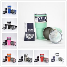 Wholesale YETI oz Best Cup Cooler YETI Rambler Tumbler Vehicle Beer YETI Mug Tumblerful Bilayer Vacuum Insulated Stainless Steel