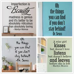 Mix Order Marilyn Monroe Wall Sticker Dr Suess Inspirational Wall Decal Vinyl Removable Vinyl Lettering