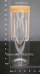 Tube de verre de 800ml avec le liège en bois, grand bocal de verre, stockage, bouteille d'artisanat, récipient en verre de 800cc cheap big bottles cork à partir de grandes bouteilles liège fournisseurs