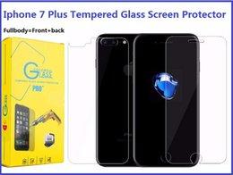 Acheter en ligne Écrans 4s-Protecteur d'écran en verre trempé Fullbody pour Iphone 7 Plus 6S 5S 4S 9H Dureté avant et arrière Premium Toughened Protective Film Retail Box