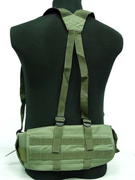 Wholesale Tactical Adjustable Nylon Rappelling Waist Belt vest Molle Panel Platform Suspender