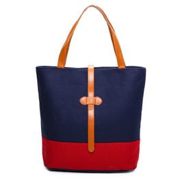 Promotion toile grand sac à main 4 Couleurs Mode Sacs à bandoulière Femmes Épaule Big Bag Style coréen Sac à main simple 2017 New Art Beauty Student Bag Vente en gros
