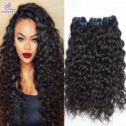 18 black hair en Ligne-Ensembles de cheveux humains brésiliens Mouillés et ondulés 3 paquets Écoulement de l'eau brésilienne Cheveux humains Cheveux non traités Tissus bouclés Naturel Noir 1b