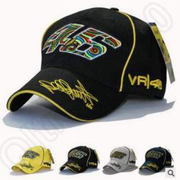 Los sombreros de los hombres en Línea-8 diseños hombres Racing Moto 46 Casco Gorra de béisbol pico bordado casquillo gorras Unisex deporte al aire libre bola casquillos CCA5366 50pcs