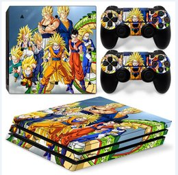 Cool Dragon Ball Full Set Vinyl Skin Sticker Decor Decals for Sony PS4 Pro Console Skin + 2 PCS Controller Cover Skin Stickers