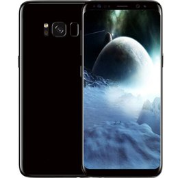 pouce 1gb Promotion 2017 Full Screen Fingerprint 5.8 pouces Goophone S8 Android 7.0 Smartphone MTK6580 Octa Core Real 1GB RAM 8GB ROM Afficher 64GB Cell Phone