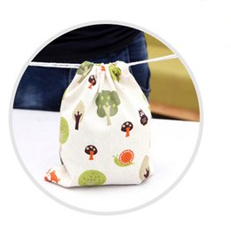 Owl Desing Cotton Linen Bags Festive Parties Cindy Gift Bags Jewelry Packaging Pouches Wedding Favor Holders