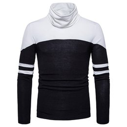 Free Shipping 2017 Autumn and Winter Men's New High-neck Sweater Fight Striped Sweater Fashion Sweater
