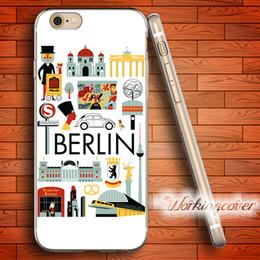 Capa Berlin Culture Design Soft Clear TPU Case for iPhone 6 6S 7 Plus 5S SE 5 5C 4S 4 Case Silicone Cover.
