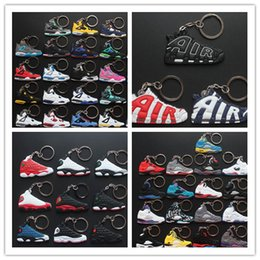 Wholesale Basketball shoes Key buckle keychains retro running shoes roshe run nmd fashion sports cheap