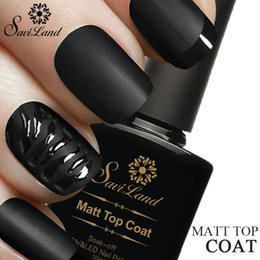 Acabado mate en Línea-Venta al por mayor-Saviland 1pcs 10ml Matt Barniz Matte Top Coat Nail Gel Polaco Nail Art Finish Top Coat Gel Lacquer Top Gel