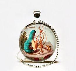 Wholesale Alice and the Caterpillar pendant Necklace Alice in Wonderland necklace Wonderland jewelry