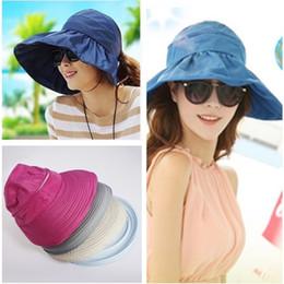 Summer Fashion Women's Anti-UV Wide Brim Cap Girl Casual Bowknot Beach Hat Ladies Foldable Sun Hats