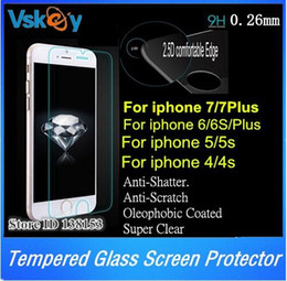 Wholesale 50pcs D mm Tempered Glass Screen Protector For iPhone plus Oleophobic Coated Glass Protective Film For iphone s plus S s
