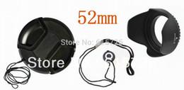 Lignes de capot à vendre-Grossiste-52mm center pinch Snap-on couvercle cap + lentille cap ligne + capot objectif 52mm Livraison gratuite