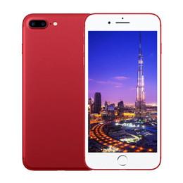 Las mini cámaras digitales en Línea-I7 más cámara de 8mp Quad Core 1G / 4G 3g Mostrar 4G falsos lte Android 6.0 3G desbloqueado rojo negro de chorro de teléfono