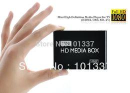 Compra Online El jugador del sd para la televisión-Venta al por mayor - caja completa de HDD media Media Player 1080P HD TV Ayuda HDMI MKV RM SD USB SDHC MMC HDD-HDMI (BOXCHIP F10) Adaptador de FreeCar