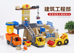Wholesale 60pcs set City Construction Engineering Brigade Building Blocks Brick Toy For Kids Gifts Compatible With Duplo
