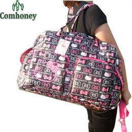 Wholesale Hello Kitty Maternity Baby Bag High Capacity Mother Diaper Bag For Baby Care Multifunction Women Handbag For Newborn Nappy Bags