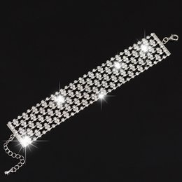 New Arrival full star super shiny rhinestone crystal Gold silver Color ladies bracelets jewelry wholesale price