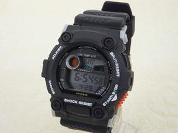 Wholesale luxury Black Watch jelly Shocking Sports Watches G7900 Digital Wristwatches Cheap Belt Buckle Watch Best Quartz Battery shock