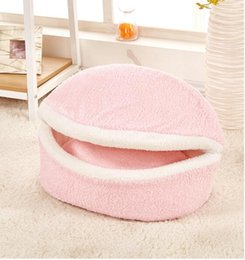 2017 grande maison pour animaux de compagnie New Shell Pet House Grandes tailles Pet Igloo Dog Cat Soft Comfy Warm Washable Détachable Pet Size du lit M L bon marché grande maison pour animaux de compagnie