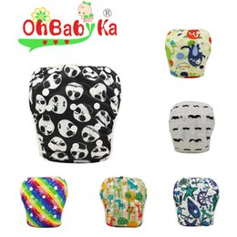 Wholesale 10pcs Baby Girl Boy Swim Nappy Diaper Bright Colors Infant Baby Swimsuit Baby Swiming Diapers Reusable Adjustable
