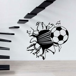 2017 Hot Sale Personality Football Wall Sticker Decal Decor Sport Soccer Boy Kids Room Bedroom Living Room Mural Art DIY